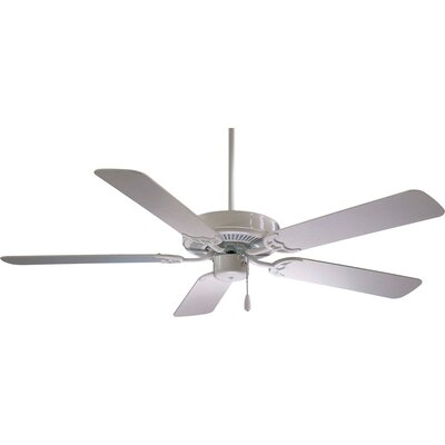 42 Contractor 5-Blade Ceiling Fan Finish: White
