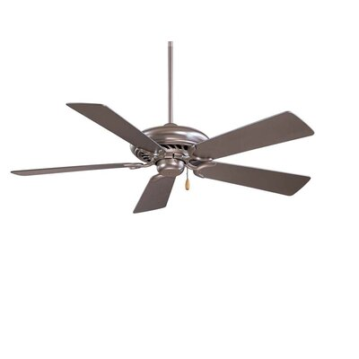 52 Supra 5-Blade Ceiling Fan Finish: Brushed Steel with Silver Blades