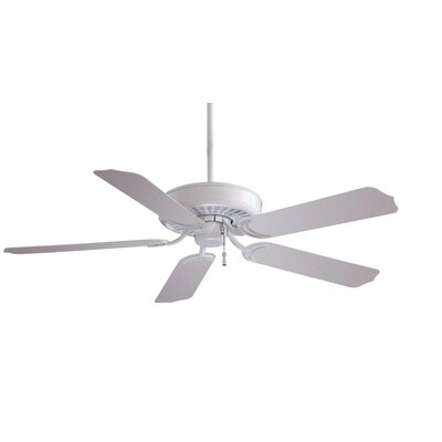 52 Sundance 5-Blade Indoor / Outdoor Ceiling Fan Finish: White with White Blades