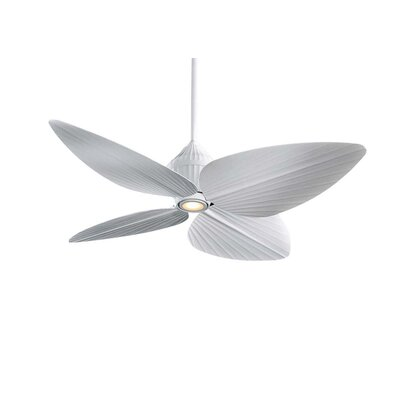 52 Gauguin Tropical 4 Blade Outdoor LED Ceiling Fan Finish: Flat White with Flat White Blades