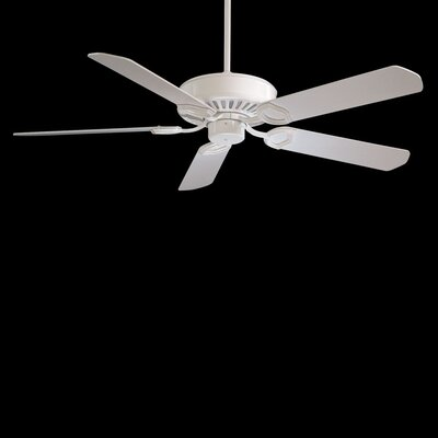 54 Ultra 5-Blade Ceiling Fan Finish: White with White Blades