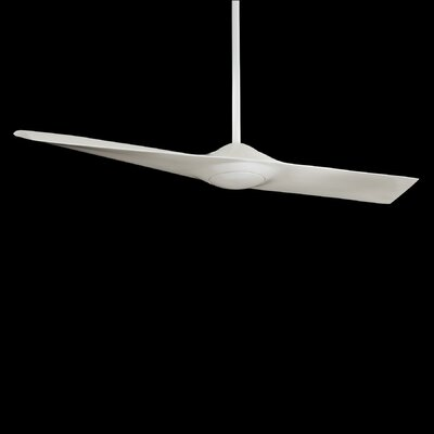 52 Wing 1-Blade Ceiling Fan with Remote Control Finish: Silver