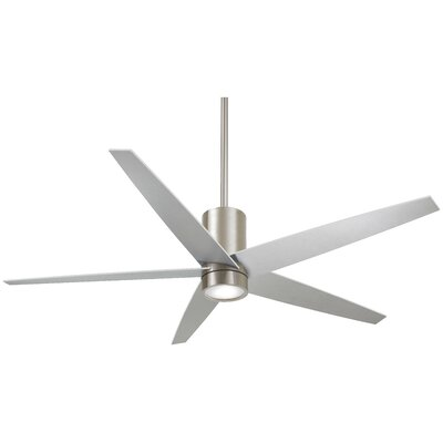 56 Symbio 5 Blade LED Ceiling Fan Finish: Brushed Nickel with Silver Blades