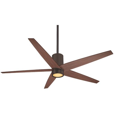 56 Symbio 5 Blade LED Ceiling Fan Finish: Oil Rubbed Bronze with Medium Maple Blades