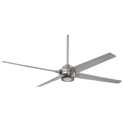 60 Spectre 4 Blade LED Ceiling Fan Finish: Brushed Nickel with Silver Blades