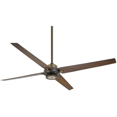 60 Spectre 4 Blade LED Ceiling Fan Finish: Oil Rubbed Bronze/Antique Brass with Tobacco Blade