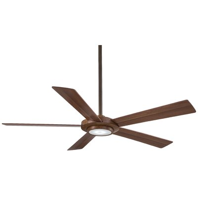 52 Sabot 5 Blade LED Ceiling Fan Finish: Distressed Koa