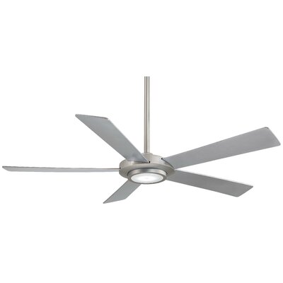 52 Sabot 5 Blade LED Ceiling Fan Finish: Brushed Nickel with Silver Blades