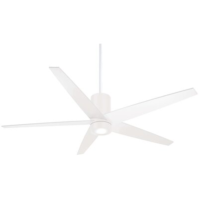 56 Symbio 5 Blade LED Ceiling Fan Finish: Flat White with White Blades