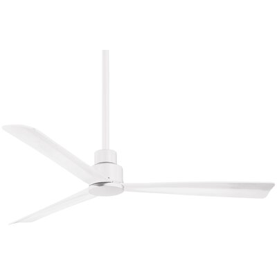 52 Simple 3 Blade Ceiling Fan Finish: Flat White