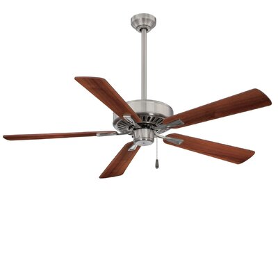 52 Contractor Plus 5-Blade Ceiling Fan Finish: Brushed Nickel with Dark Walnut Blades