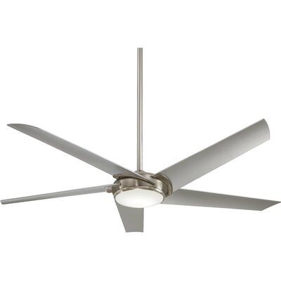 60 Raptor 5-Blade Ceiling Fan Finish: Brushed Nickel with Silver Blades