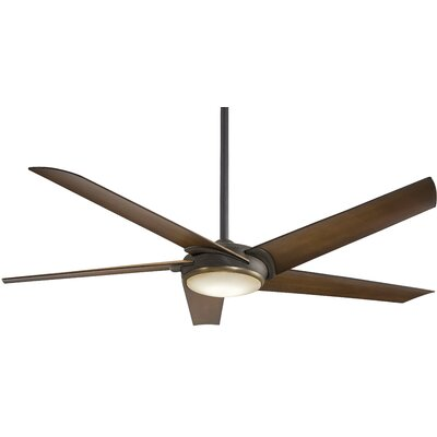60 Raptor 5-Blade Ceiling Fan Finish: Oil Rubbed Bronze With Tobacco Blades