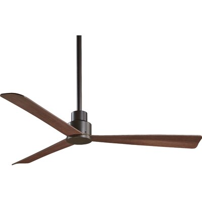 52 Outdoor 3-Blade Ceiling Fan Finish: Oil Rubbed Bronze with Maple Blades