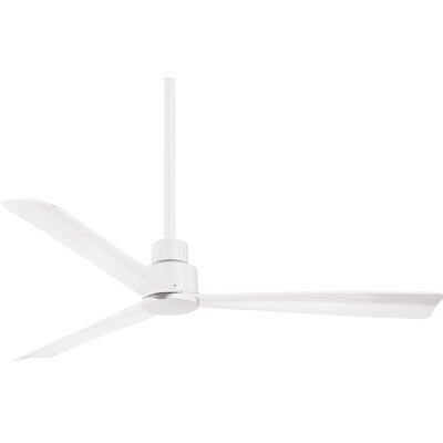 52 Outdoor 3-Blade Ceiling Fan Finish: Flat White