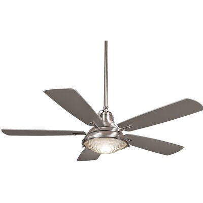 56 Groton 5-Blade Ceiling Fan Finish: Polished Nickel with Silver Blades