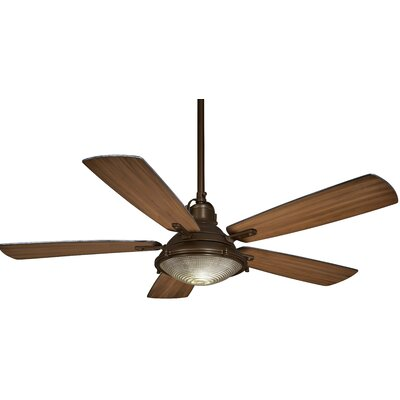 56 Groton 5-Blade Ceiling Fan Finish: Oil Rubbed Bronze with Dark Pine Blades
