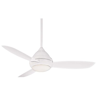 52 Concept� I Wet LED 3 Blade Outdoor Ceiling Fan Finish: White