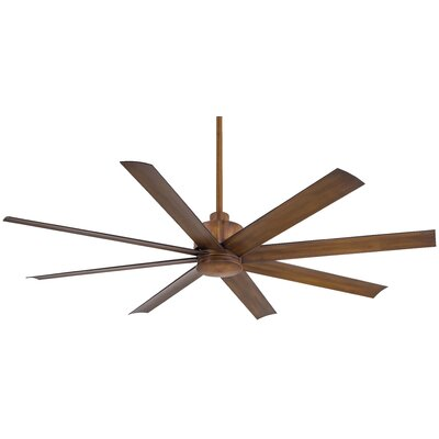 65 Slipstream 8 Blade Wet LED Ceiling Fan with Remote Finish: Distressed Koa
