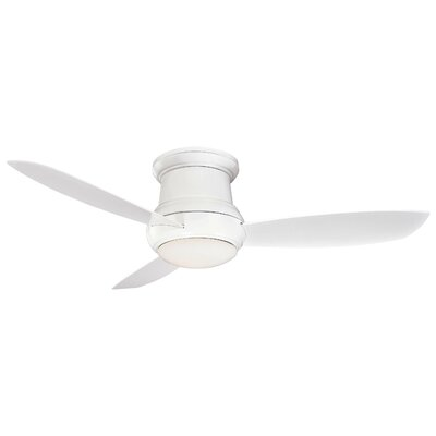 52 Concept II 3 Blade Outdoor LED Ceiling Fan Finish: White