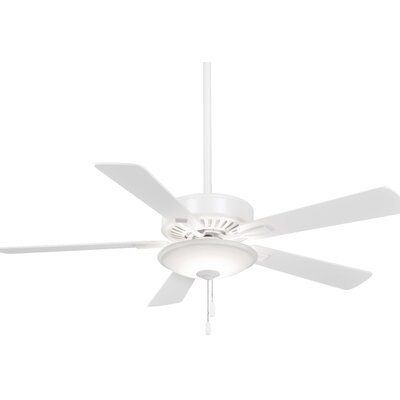 52 Contractor 5 Blade LED Ceiling Fan Finish: White with White Blades