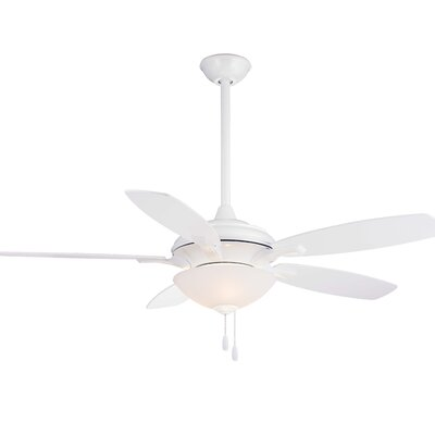 52 Hilo 5 Blade Ceiling Fan Finish: White with White/Maple Blades