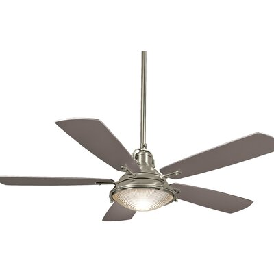 56 Groton 5 Blade LED Ceiling Fan Motor Finish: Polished Nickel, Blade Finish: Silver