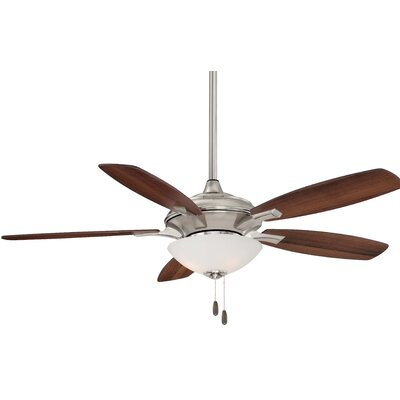 52 Hilo 5 Blade Ceiling Fan Finish: Brushed Nickel with Dark Walnut/Maple Blades