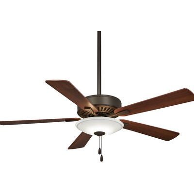 52 Contractor 5 Blade LED Ceiling Fan Finish: Brushed Nickel with Medium Maple/Dark Walnut Blade