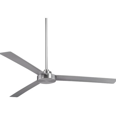 62 Roto 3 Blade Ceiling Fan Finish: Brushed Aluminum