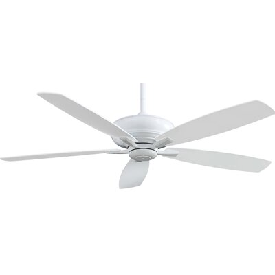 60 Kola 5 Blade Ceiling Fan with Remote Finish: White
