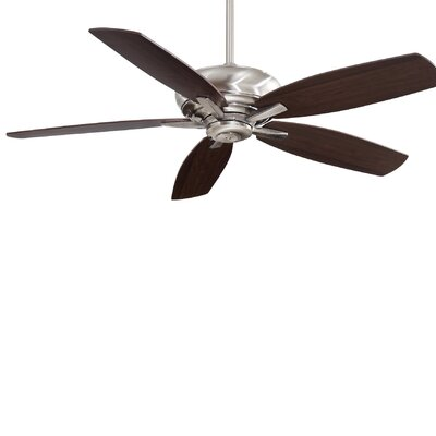 60 Kola 5 Blade Ceiling Fan with Remote Finish: Pewter with Dark Maple/Dark Walnut Blades
