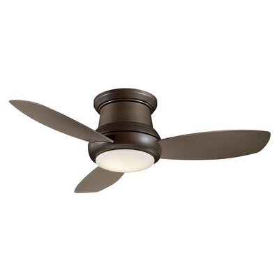 44 Concept II 3 Blade LED Ceiling Fan Finish: Brushed Nickel with Silver Blades, Bulb Type: LED
