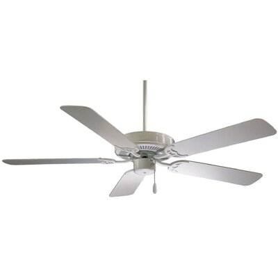 52 Contractor 5-Blade Ceiling Fan Finish: White with White Blades