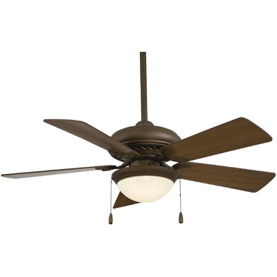 44 Supra 5-Blade Ceiling Fan Finish: Oil Rubbed Bronze with Medium Maple Blades