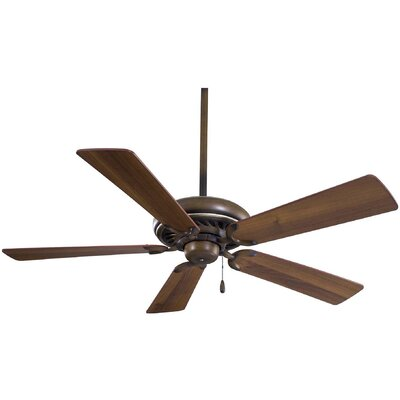 52 Supra 5-Blade Ceiling Fan Finish: Belcaro Walnut with Medium Maple Blades