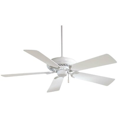 52 Supra 5-Blade Ceiling Fan Finish: White with White Blades