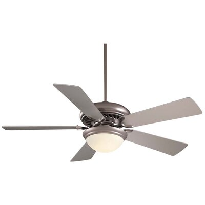 52 Supra 5 Blade LED Ceiling Fan Finish: Brushed Steel with Silver Blades