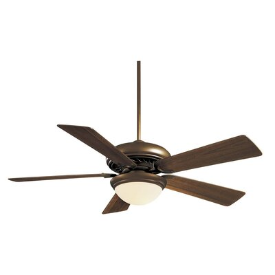 52 Supra 5 Blade LED Ceiling Fan Finish: Oil Rubbed Bronze with Medium Maple Blades