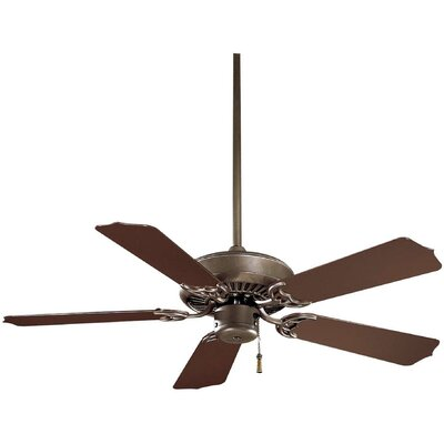 42 Sundance 5-Blade Indoor / Outdoor Ceiling Fan Finish: Oil Rubbed Bronze with Dark Oak Blades