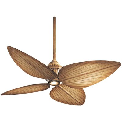 52 Gauguin Tropical 4 Blade Outdoor LED Ceiling Fan Finish: Bahama Beige with Bahama Beige Blades