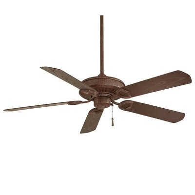 54 Sundowner 5-Blade Indoor / Outdoor Ceiling Fan Finish: Vintage Rust with Dark Maple Blades