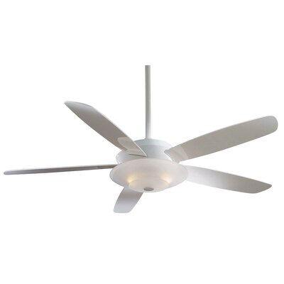 54 Airus 5 Blade LED Ceiling Fan Finish: White with High Gloss White Blades