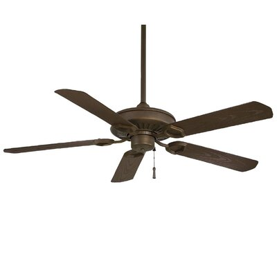 54 Sundowner 5-Blade Indoor / Outdoor Ceiling Fan Finish: Oil Rubbed Bronze with Dark Maple Blades