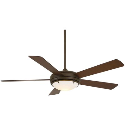 54 Como 5 Blade Contemporary LED Ceiling Fan Finish: Oil Rubbed Bronze with Tobacco Blades