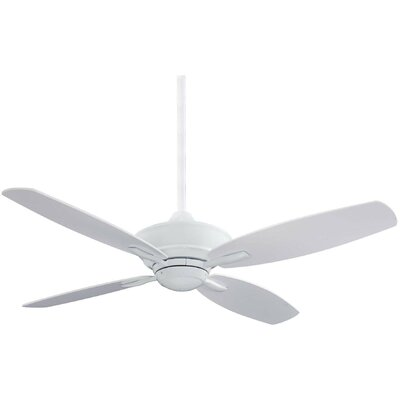 52 New Era 4-Blade Ceiling Fan with Remote Finish: White with White Blades
