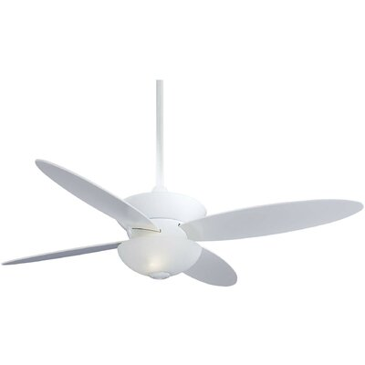 52 Zen 4 Blade LED Ceiling Fan with Remote Finish: White