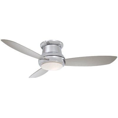 52 Concept II 3 Blade LED Ceiling Fan with Remote Finish: Polished Nickel, Bulb Type: LED