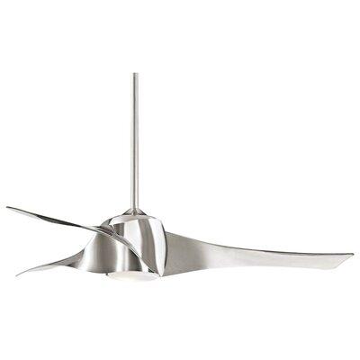 58 Artemis 3 Blade LED Ceiling Fan Finish: Liquid Nickel