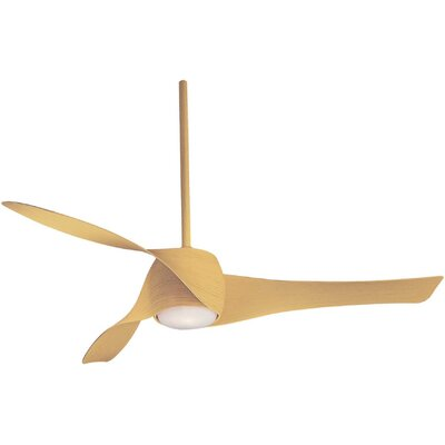 58 Artemis 3 Blade LED Ceiling Fan Finish: Maple
